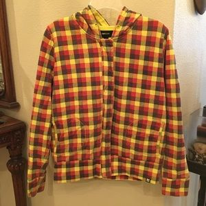 INSIGHT Checkered Jacket with Hoodie Size Large